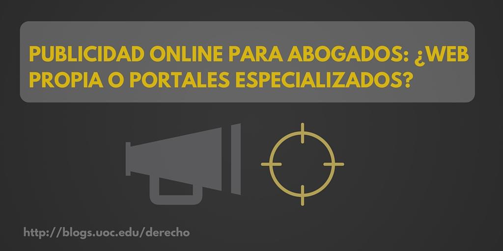 ¿Web propia o portales publicitarios?